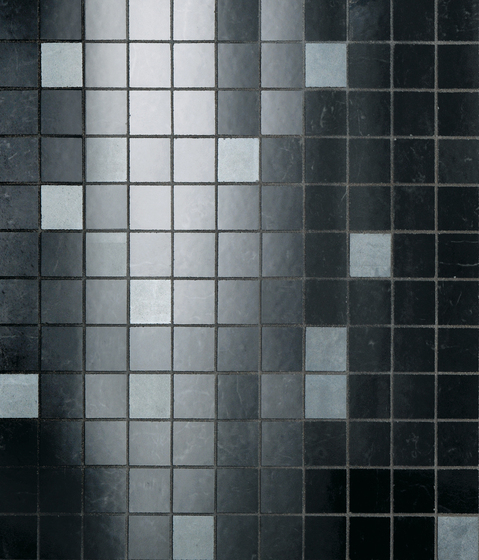 Admiration Midnight Black Mosaico Dek by Atlas Concorde | Ceramic mosaics