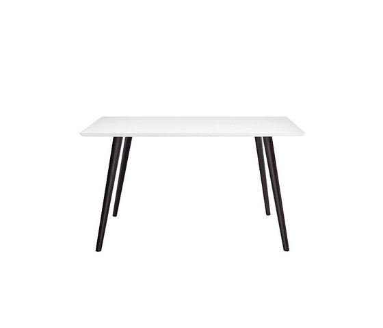 Gher h74 Square top by Arper | Restaurant tables