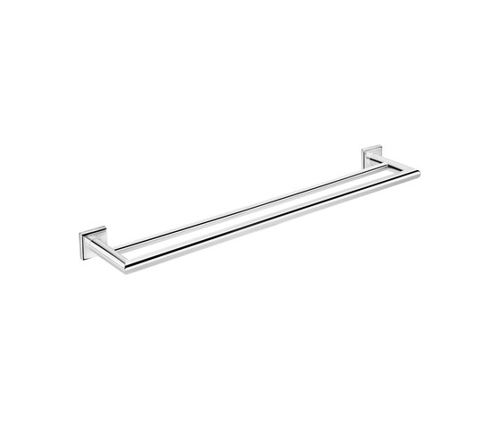 Kubic Class double towel bar by Pom d'Or | Towel rails
