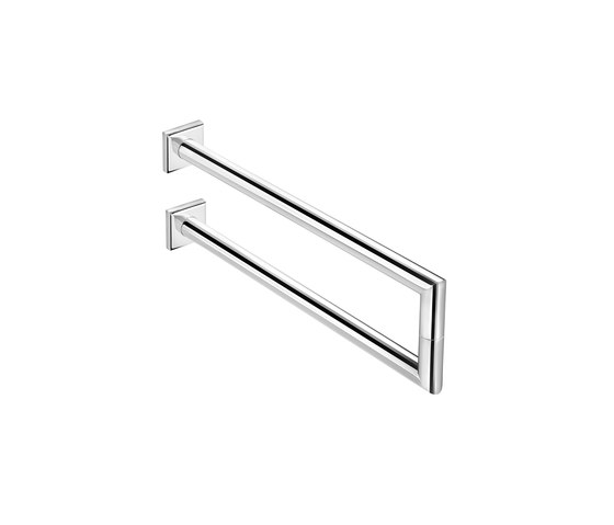 Kubic Class double lateral towel bar by pom d'or | Towel rails