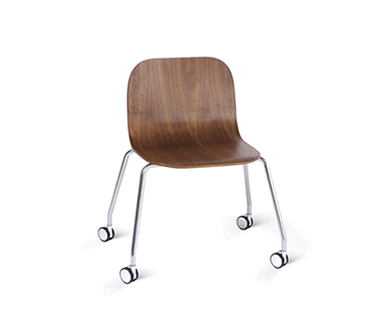 Side Chair Roller by VANGE | Visitors chairs / Side chairs