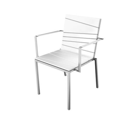 Bandoline Collection Dining | Chair with Armrest by Viteo | Garden chairs