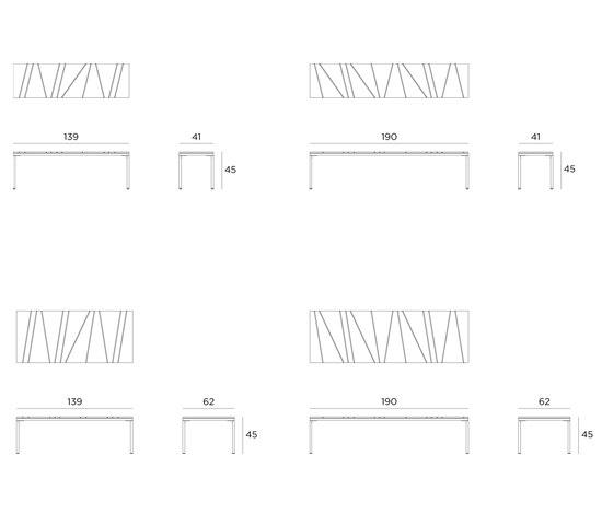 Bandoline Bench by Viteo | Garden benches