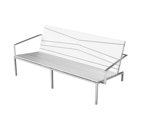 Bandoline Collection Lounge | Double Lounge Chair by Viteo | Garden benches