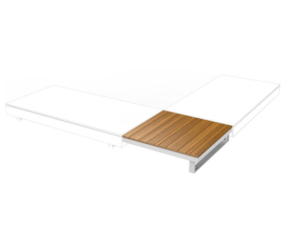 Pure Collection | Wooden Table 90 de Viteo | Tables basses de jardin