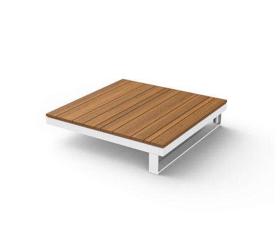 Pure Wooden Table 90 de Viteo | Tables basses de jardin