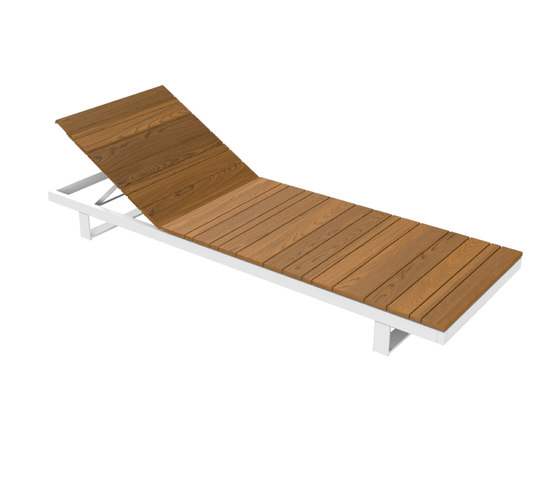Pure Collection | Wooden Sunlounger by Viteo | Sun loungers