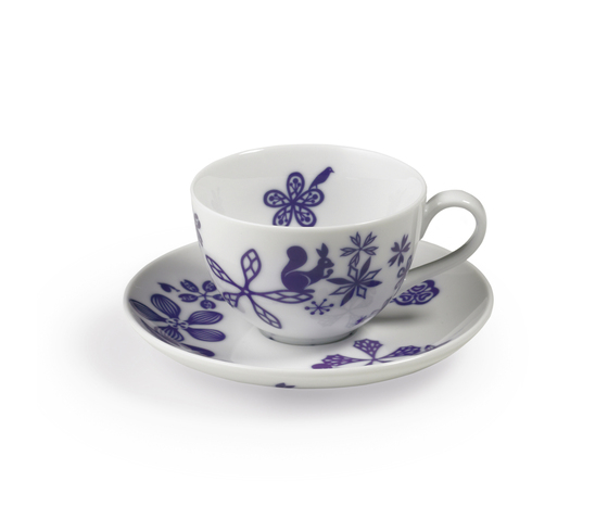 TABLESTORIES coffee & tea cup with saucer by Authentics | Dinnerware