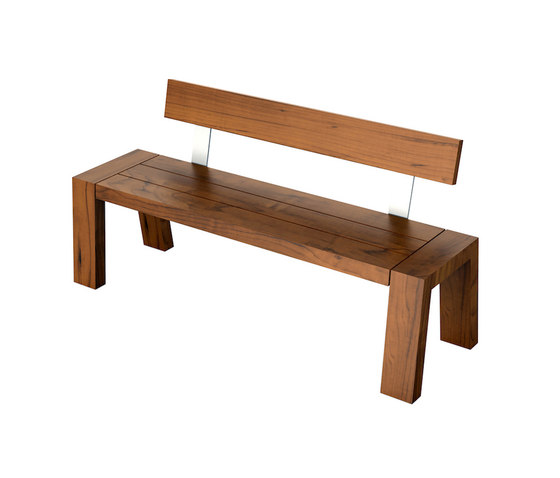 Solo Collection | Bench with Backrest 160 di Viteo | Panche da giardino