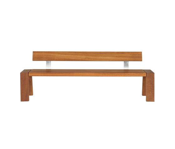 Solo Bench with Backrest by Viteo | Garden benches