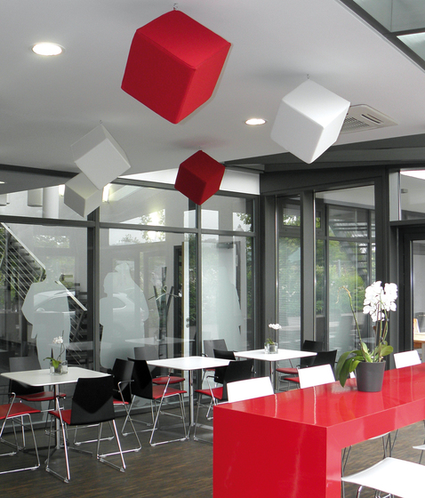 Acoustic elements acoustic cube by AOS | Suspended panels