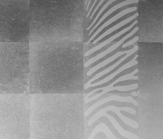 Leaf metal allocation | layered grid satined frieze zebra by VEROB | Wood panels / Wood fibre panels