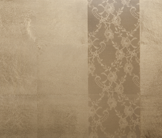 Leaf metal allocation | layered grid with satined frieze by VEROB | Wood panels
