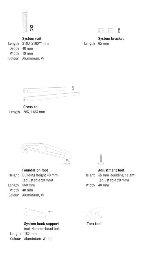 Exilis Freestanding System de nonuform | Estanterías para bibliotecas