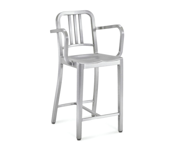 Navy® Counter stool with arms by emeco | Bar stools