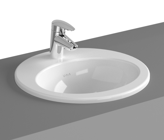 S20 Countertop basin, 43 cm, round by VitrA Bad | Wash basins