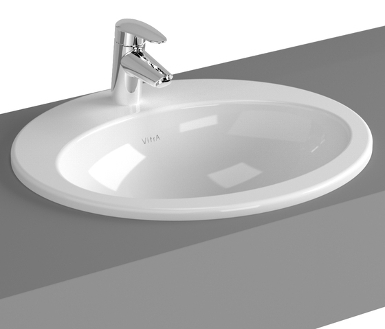S20 Countertop basin, 53 cm, round by VitrA Bad | Wash basins