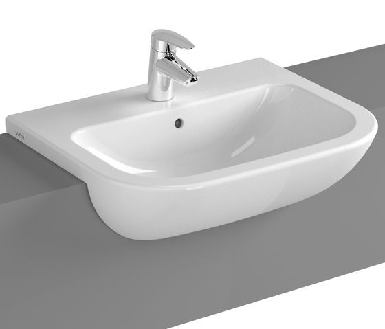 S20 Semi recessed basin, 55 cm by VitrA Bad | Wash basins