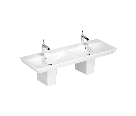 T4 Double washbasin, 130 cm by VitrA Bad | Wash basins
