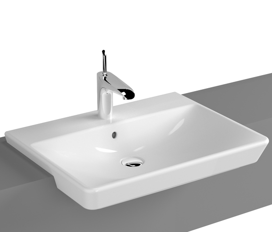 T4 Semi recessed basin, 60 cm di VitrA Bad | Lavabi / Lavandini