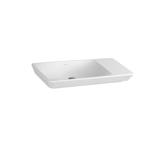T4 Aufsatzwaschtisch asymmetrisch, 80 cm von VitrA Bad | Waschtische