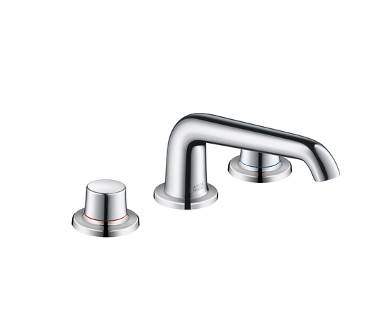 AXOR Bouroullec 3-hole basin mixer 90 without pull rod DN15 by AXOR | Wash-basin taps