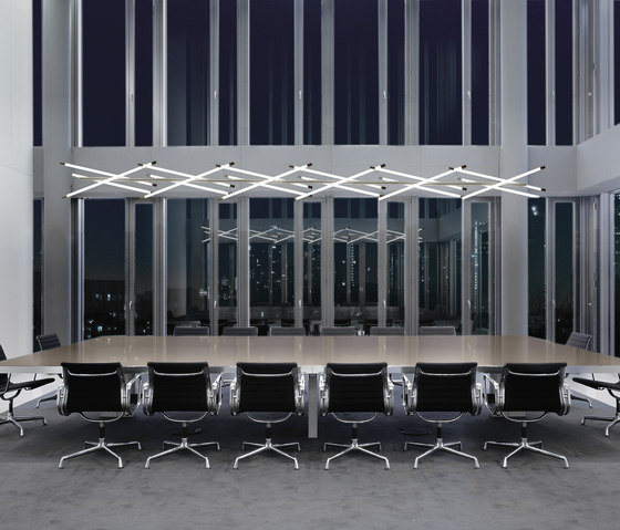 Light Structure T3 table combination by Archxx | Suspended lights