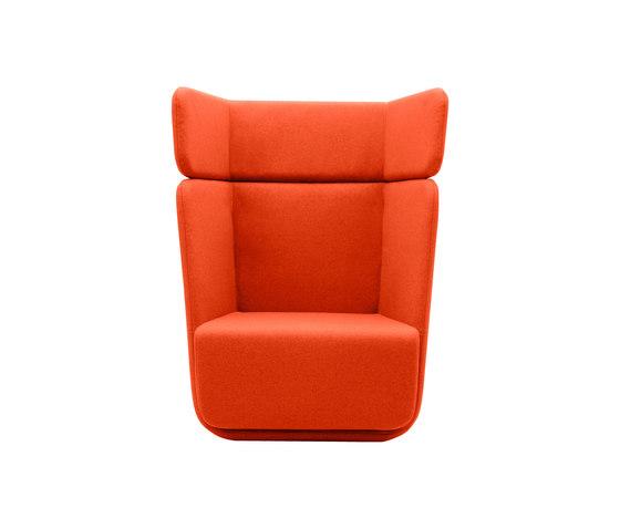 Basket fauteuil dossier haut de Softline A/S | Fauteuils d'attente