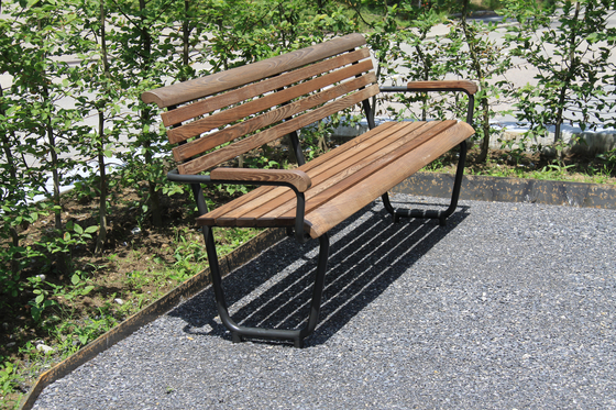 Landi Bench for Senior Citizens in NATWOOD by BURRI | Exterior benches