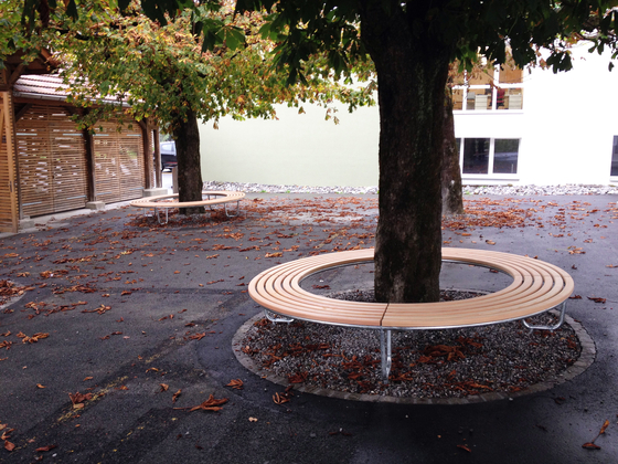 Landi Round Bench without backrest by BURRI | Exterior benches
