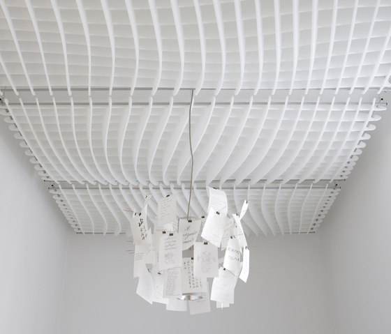 WAVE Acoustic absorber ceiling by SPÄH designed acoustic   Acoustic ceiling systems