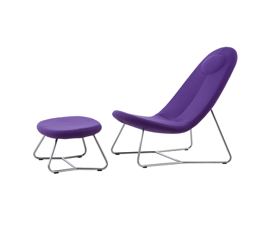 Lane chair with footstool by Softline A/S | Armchairs