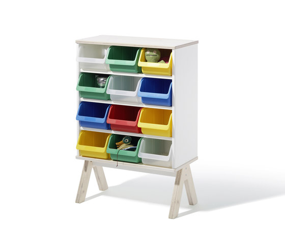 Famille Garage shelf di Richard Lampert | Contenitori infanzia