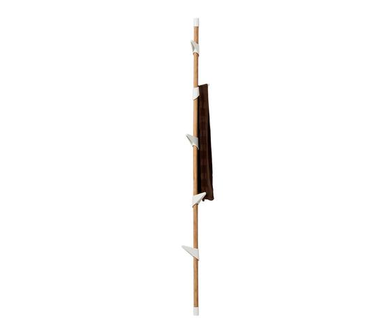 Porte-manteaux Bamboo 5 Wall de Cascando | Portemanteaux muraux