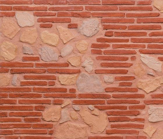 MSD Ladrillo rojo y lastra 209 di StoneslikeStones | Lastre in materiale composito