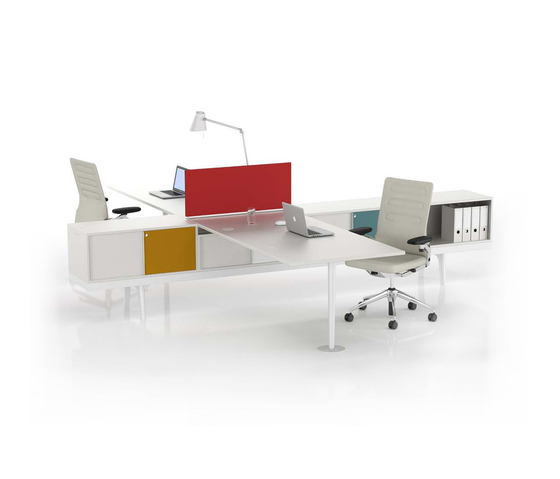 level 34 desking systems from vitra architonic. Black Bedroom Furniture Sets. Home Design Ideas