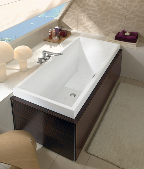 Squaro Whisper Bathtub by Villeroy & Boch | Bathtubs rectangular