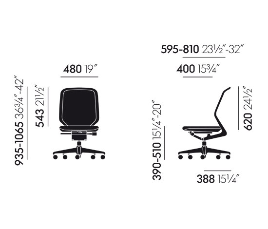 MedaPal by Vitra | Task chairs
