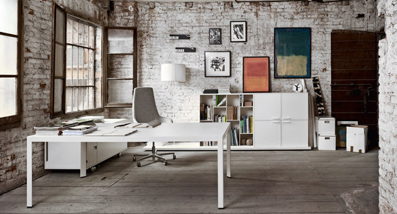 Frame+ Executive by Sinetica Industries | Individual desks
