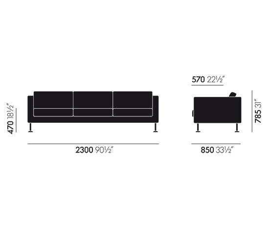 Park Sofa Three-Seater by Vitra | Lounge sofas