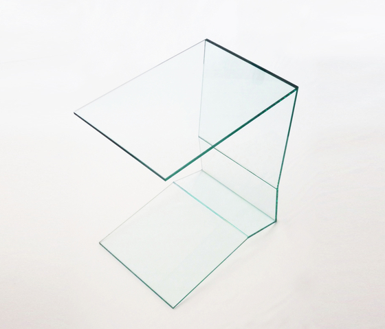 C-Table glass de xbritt moebel | Tables d'appoint