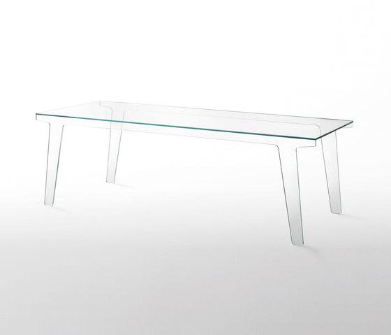Faint by Glas Italia   Dining tables