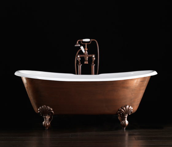 Admiral Copper Effect Bathtub by Devon&Devon | Free-standing baths