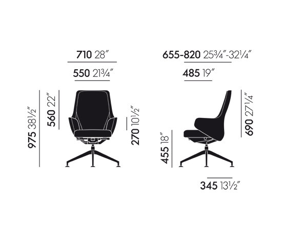 Skape Lowback Conference by Vitra | Visitors chairs / Side chairs