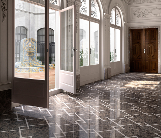Prestige Marble Flooring by Devon&Devon | Natural stone panels