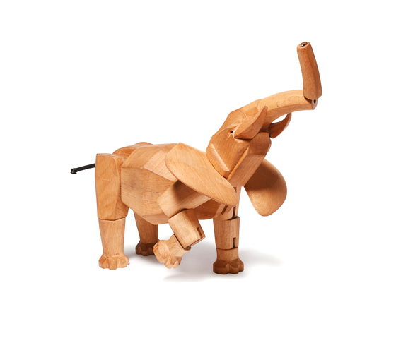 Hattie the Wooden Elephant de David Weeks Studio | Jouets