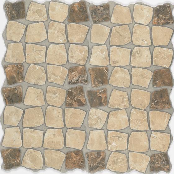 Marmol beige emperador-marron deco 2 by Oset | Tiles