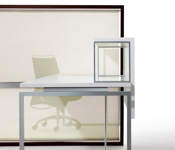 Aire Reception Desk with Screen by ARIDI | Table dividers