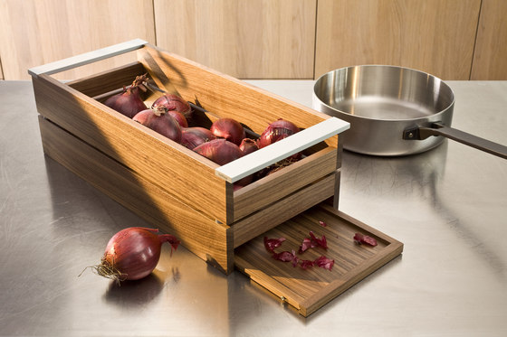 Storage container by bulthaup | Kitchen organization
