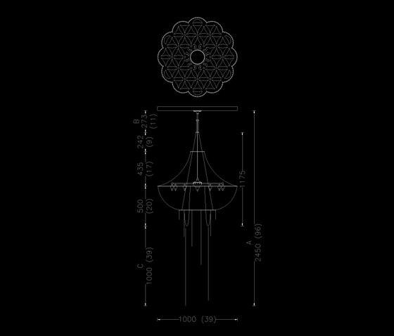 Flower of Life - 1000 - suspended di Willowlamp | Oggetti luminosi
